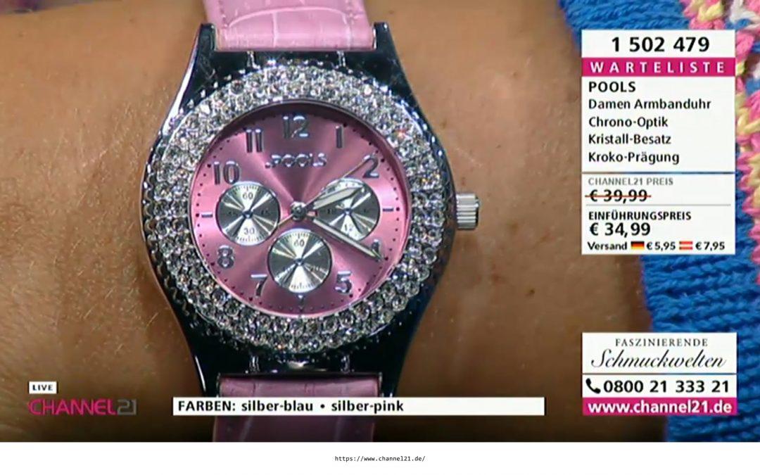 Pools Uhren ab sofort auch bei Channel21