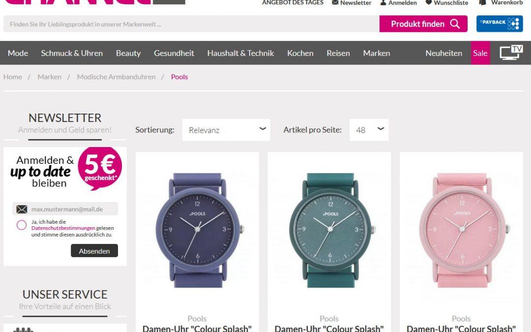 Neue POOLS Uhren bei Channel21